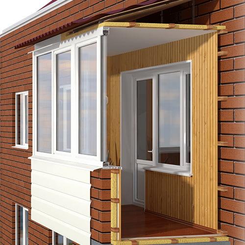 отделка балконов лоджий недорого